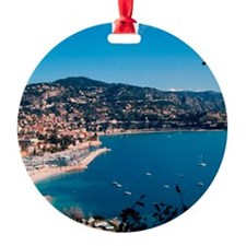 A charming coastal town of the Fren Ornament