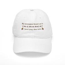Norwegian Forest in Charge Baseball Baseball Cap
