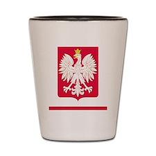 Polish Flag Eagle Coat of Arms iPhone 5 Shot Glass