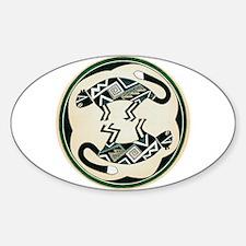 MIMBRES MOUNTAIN LION BOWL DESIGN Oval Decal