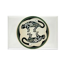 MIMBRES MOUNTAIN LION BOWL DESIGN Rectangle Magnet