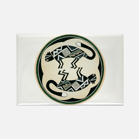MIMBRES MOUNTAIN LION BOWL DESIGN Rectangle Magnet