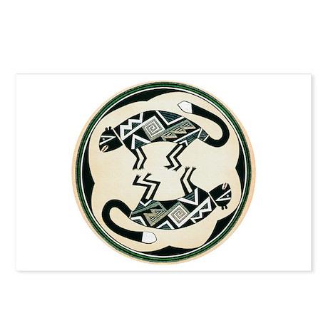 MIMBRES MOUNTAIN LION BOWL DESIGN Postcards (Packa