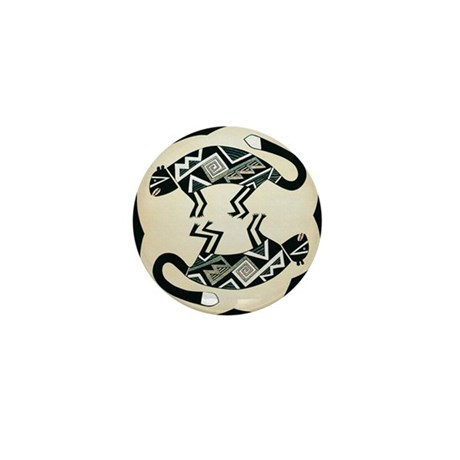MIMBRES MOUNTAIN LION BOWL DESIGN Mini Button (10