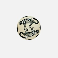 MIMBRES MOUNTAIN LION BOWL DESIGN Mini Button