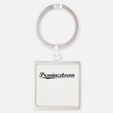 Provincetown, Vintage Square Keychain