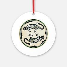MIMBRES MOUNTAIN LION BOWL DESIGN Ornament (Round)