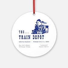 The Train Depot Round Ornament