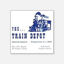 """The Train Depot Square Sticker 3"""" x 3"""""""