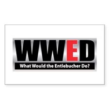 WW the Entlebucher D Rectangle Decal