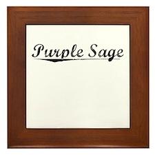 Purple Sage, Vintage Framed Tile