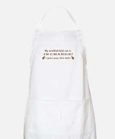 Scottish Fold in Charge BBQ Apron