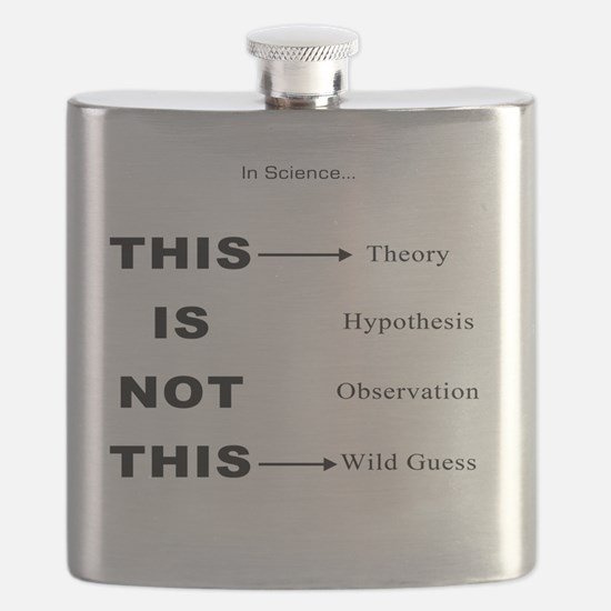 In Science...BLK Letters Flask