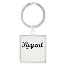 Regent, Vintage Square Keychain