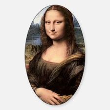 Mona Lisa Painting / Portrait Sticker (Oval)