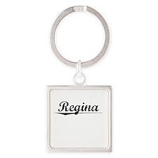 Regina, Vintage Square Keychain