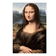 Mona Lisa Painting / Port Postcards (Package of 8)