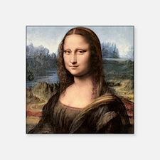 "Mona Lisa Painting / Portra Square Sticker 3"" x 3"""