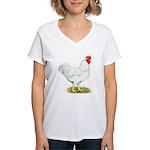 White Rooster Women's V-Neck T-Shirt