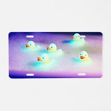 Rubber ducks Aluminum License Plate