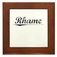 Rhame, Vintage Framed Tile