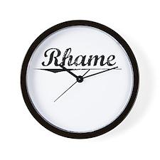 Rhame, Vintage Wall Clock