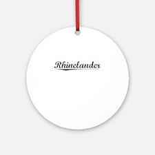 Rhinelander, Vintage Round Ornament