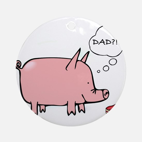 Dad Bacon Ornament (Round)