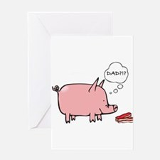 Dad Bacon Greeting Cards