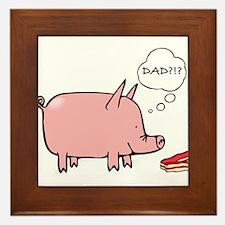 Dad Bacon Framed Tile