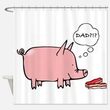 Dad Bacon Shower Curtain