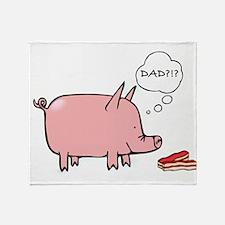 Dad Bacon Throw Blanket