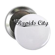 """Rapids City, Vintage 2.25"""" Button"""