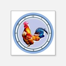 """Cockadoodle Doo Rooster Square Sticker 3"""" x 3"""""""