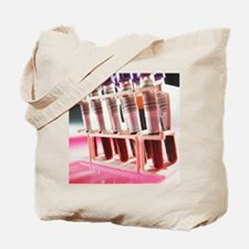 Sample tubes of blood for analysis Tote Bag