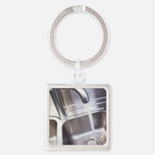 Running water Square Keychain