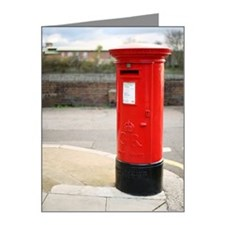 A red British Royal Mail pil Note Cards (Pk of 20)