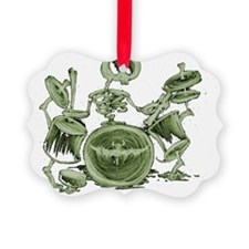 skeleton playing the drums Ornament