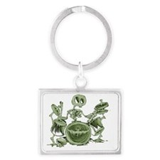 skeleton playing the drums Landscape Keychain
