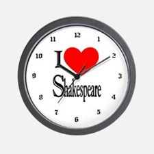 I Love Shakespeare Wall Clock
