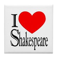 I Love Shakespeare Tile Coaster