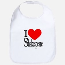 I Love Shakespeare Bib