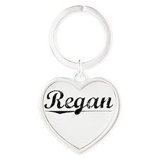 Regan, Vintage Heart Keychain