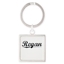 Regan, Vintage Square Keychain