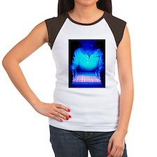 Scientist examining DNA Women's Cap Sleeve T-Shirt