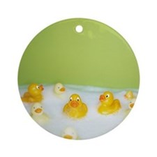 Rubber ducks Round Ornament