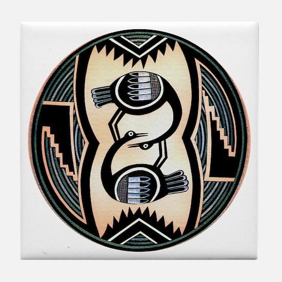 MIMBRES LOVE BIRDS BOWL DESIGN Tile Coaster