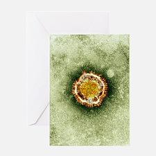 SARS virus, TEM Greeting Card