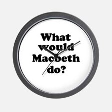 Macbeth Wall Clock