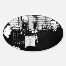 Rutherford and Geiger in laboratory Decal